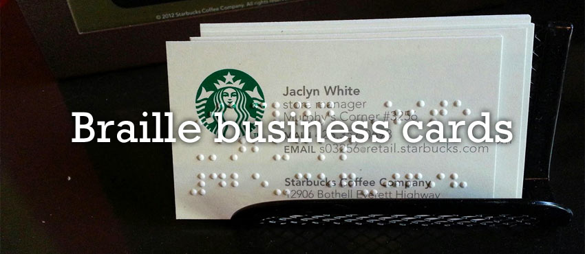 braille business card design