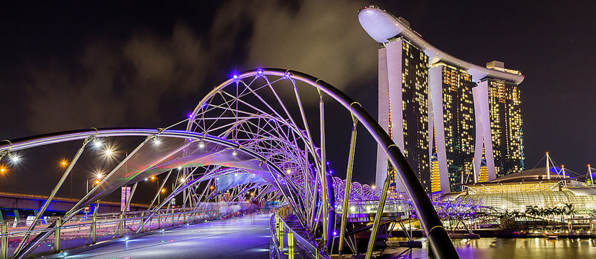 Helix Bridge, Marina Bay, Singapore