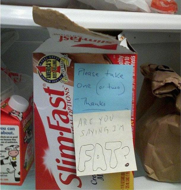 16 Funny Notes Left in the Dirty Office Fridge - Biz Penguin