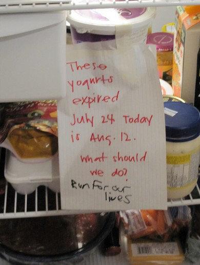 16 Funny Notes Left In The Dirty Office Fridge Biz Penguin