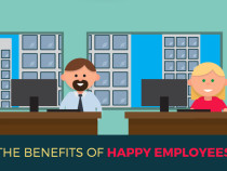 Happy Employees Equal Success (Infographic)
