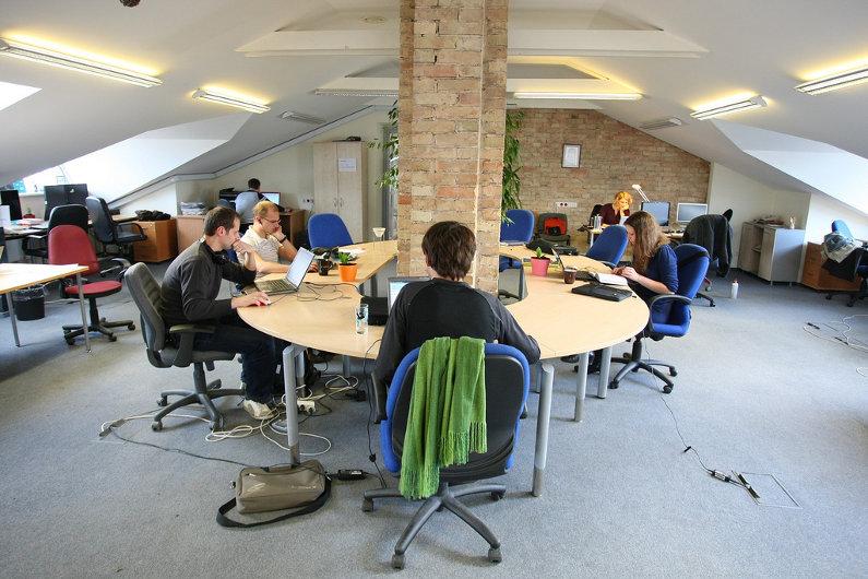 Coworking space at Hub Vilnius