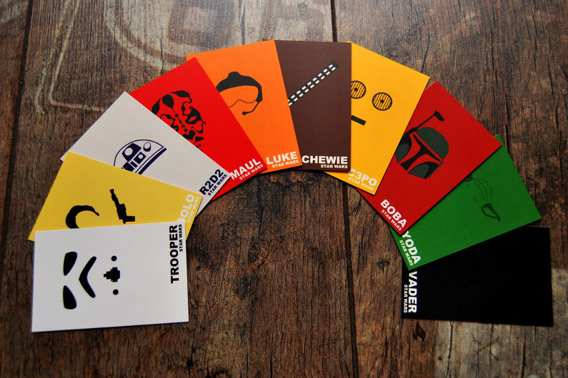 Creatively-designed business cards