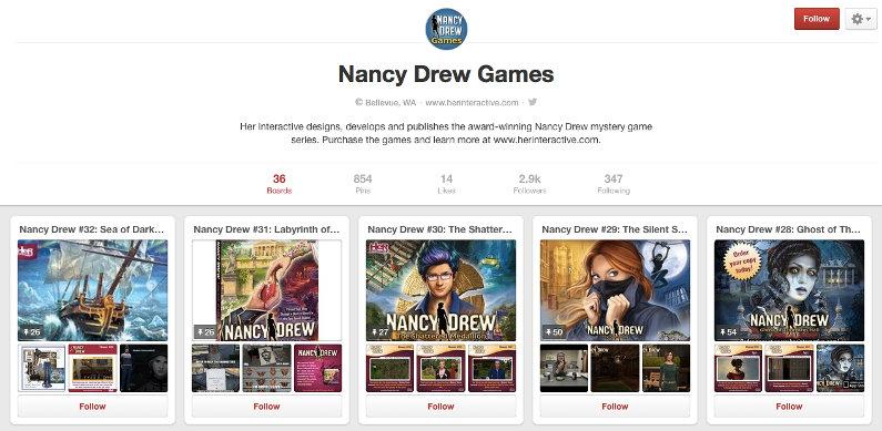 Nancy Drew games on Pinterest - screenshot