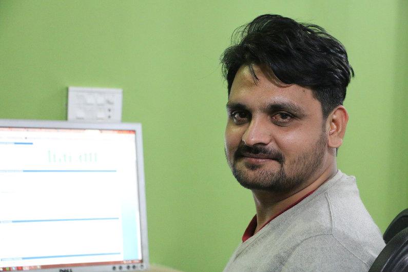 Employee working in a branch office overseas