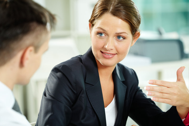 Having business talk
