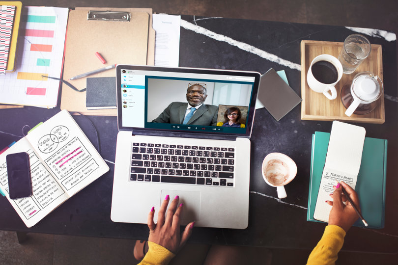 Video conferencing needs fast Internet access