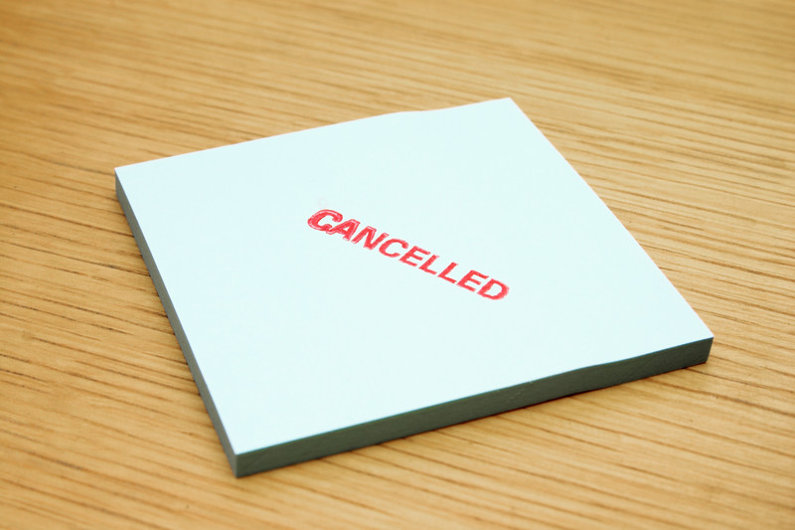 Cancelled subscription