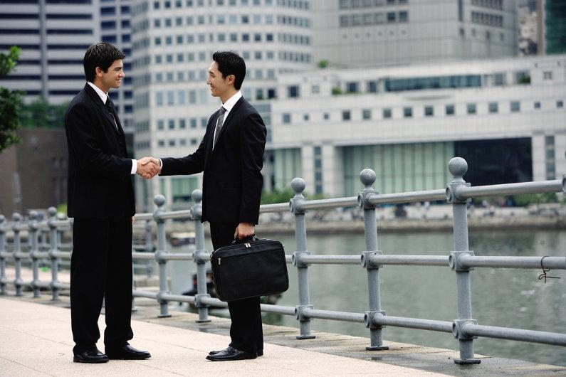 Businessmen in Singapore