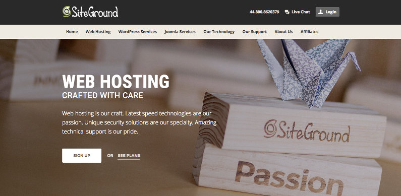 SiteGround hosting screenshot