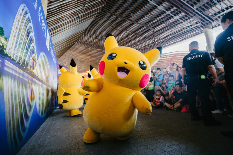 Pikachu at event