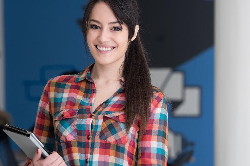 Casual startup job applicant