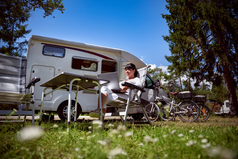 Work while on the road with RV