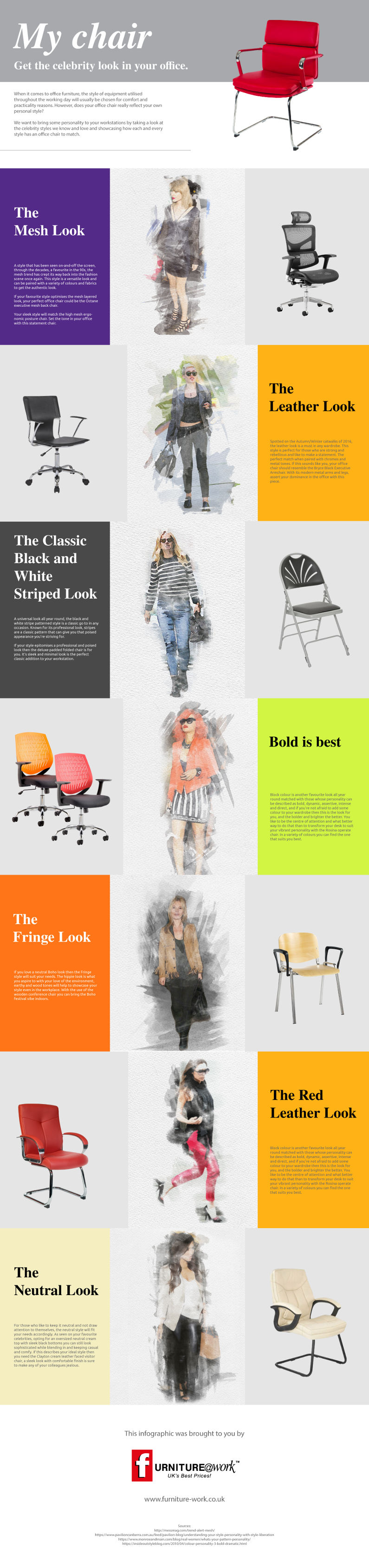 Furniture at work - infographic