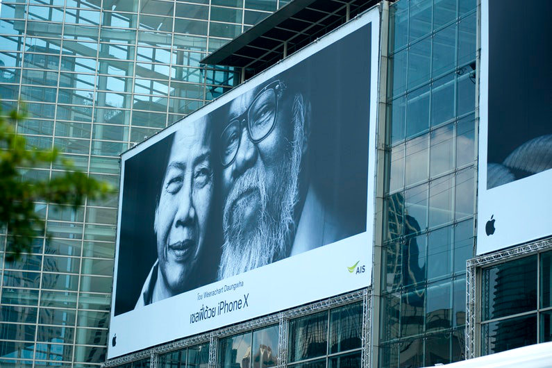 iPhone X billboard