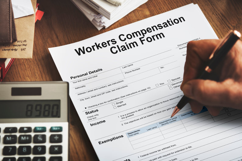 Work injury compensation claim form