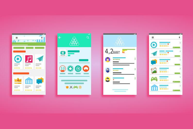Andorid app UI example