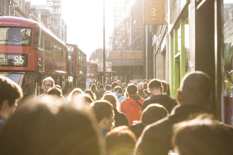 London busy street