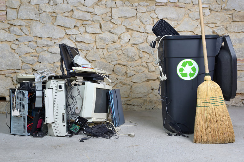 Office computer recycling