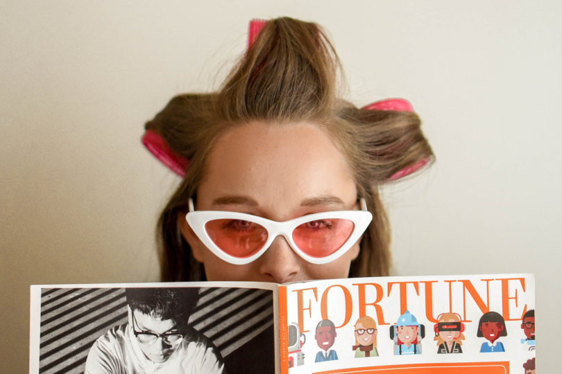 Reading printed magazine