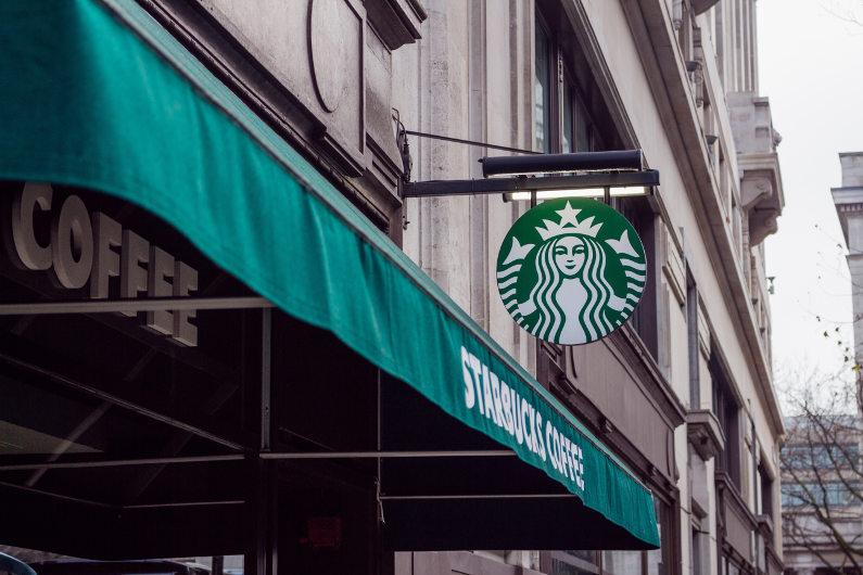 Starbucks outdoor booth