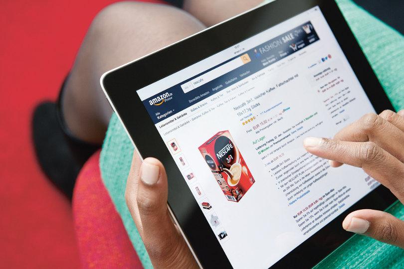 Amazon Nestle page