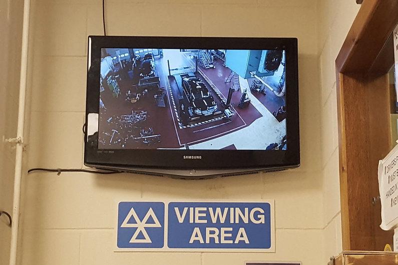 MOT Testing viewing area
