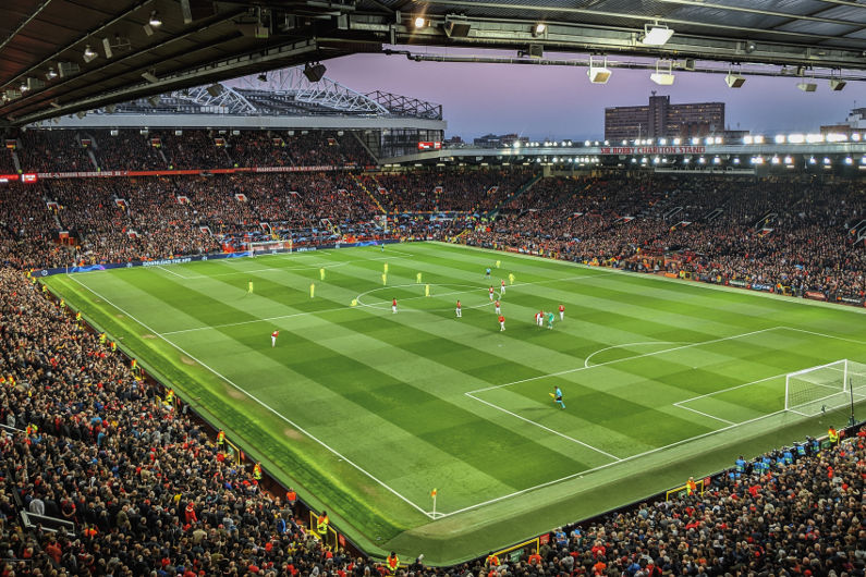 Old Trafford football stadium, Manchester, UK