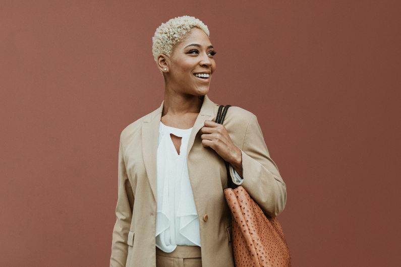 Businesswoman wearing suit