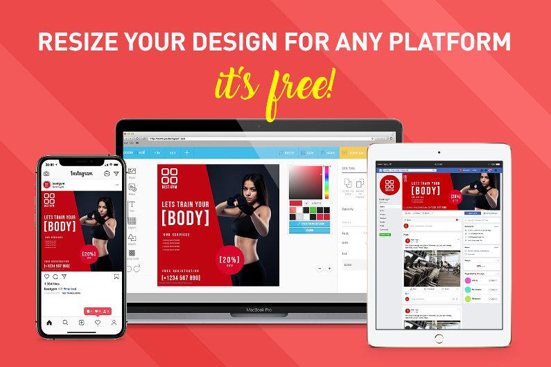 Resize design for free