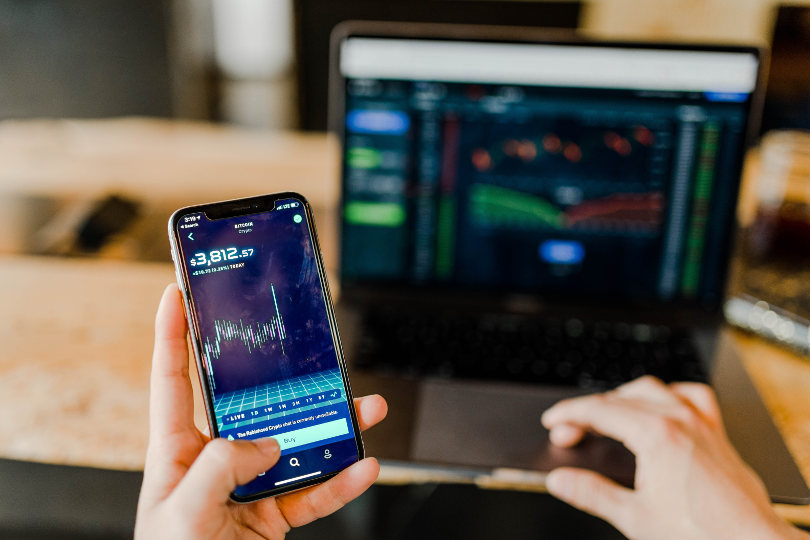 Trading using laptop and smartphone