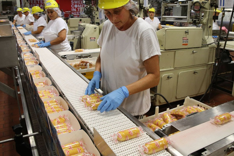 Twinkie production line