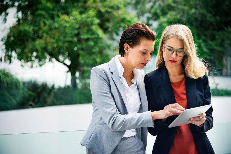 Businesswomen managing business