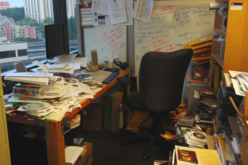 Messy old office