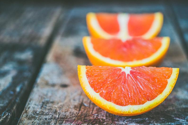 Eating orange