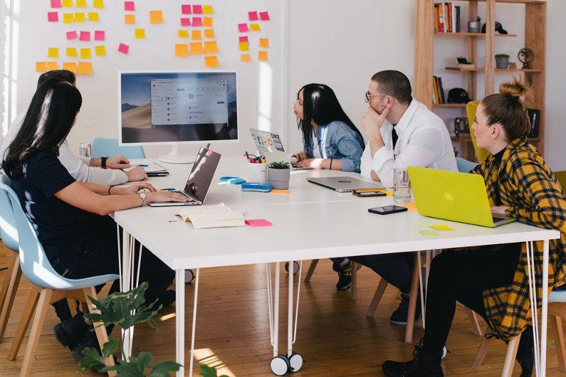 Digital marketing team meeting