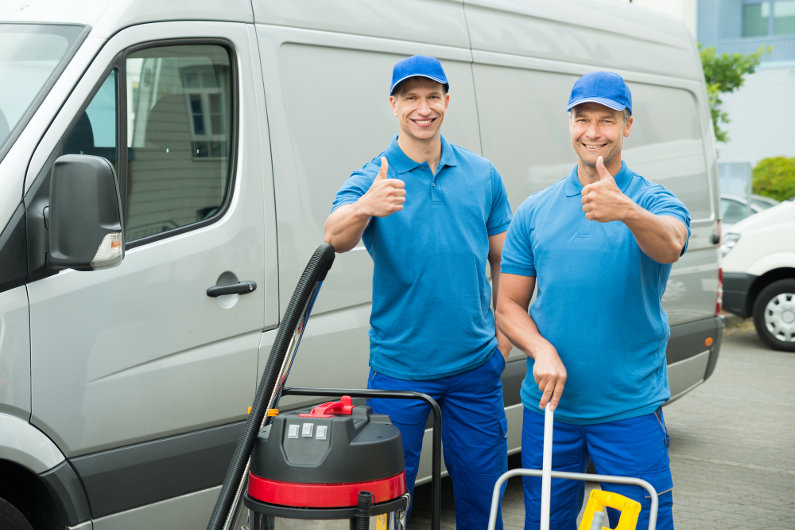 Mobile commercial cleaning service